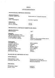 anexo i lista de participantes delegación de la república ... - ANTT