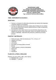 GUIA PRACTICA HERRAMIENTAS DE BANCO ... - Universidad Libre
