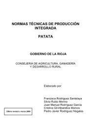 normas técnicas de producción integrada patata - Gobierno de La ...