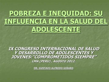 Pobreza e Inequidad DR. GUSTAVO ALFREDO GIRARD - codajic