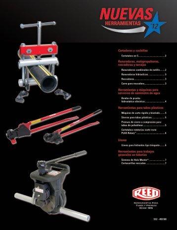 Folleto Nuevas Herramientas - Reed Manufacturing Co.