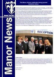 Newsletter Summer 2011 - The Manor School