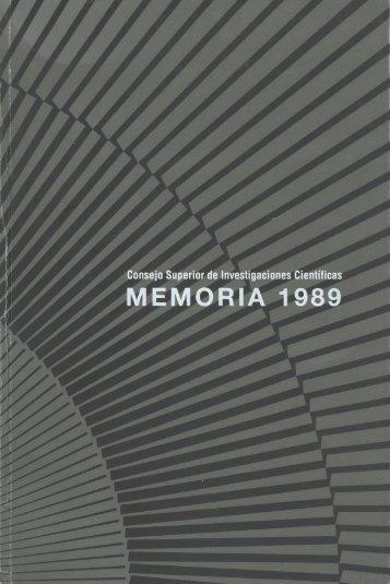 Memoria de 1989 - Página de Inicio
