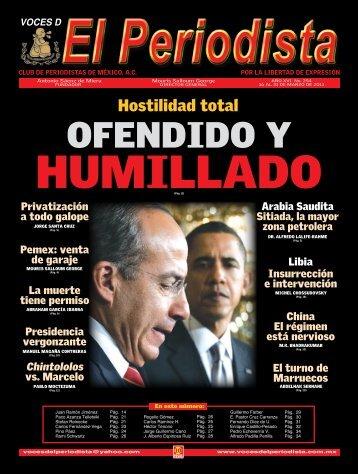 ofendido y - Voces del Periodista