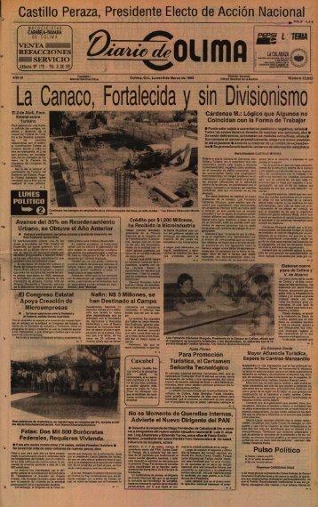 La Canaco, Fortalecida y sin Divisionismo - Universidad de Colima