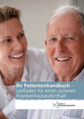 Ihr Patientenhandbuch – Leitfaden für einen sicheren Krankenhausaufenthalt