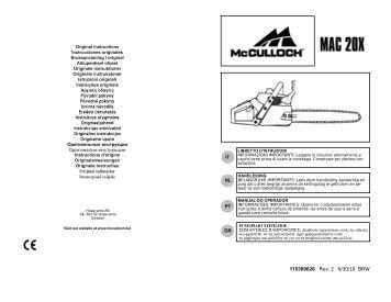 Mcculloch Pm 484 manual