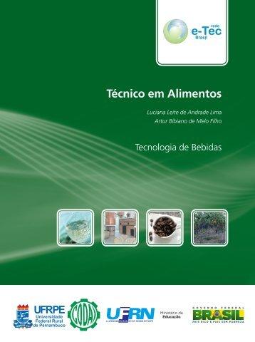 Técnicas de Bebidas - Rede e-Tec Brasil - Ministério da Educação