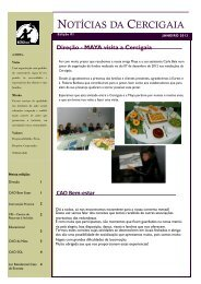 NOTÍCIAS DA CERCIGAIA - cases