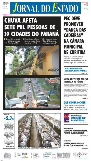chuva afeta sete mil pessoas de 39 cidades - Bem Paraná