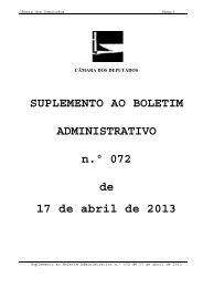 SUPLEMENTO AO BOLETIM ADMINISTRATIVO n.º 072 de 17 de ...