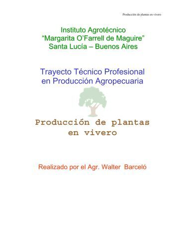 Esclerificado da se dic for Produccion de plantas en vivero pdf