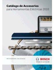 Catálogo de Accesorios para Herramientas Eléctricas 2010