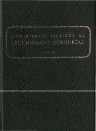 COMENTARIOS BÍBLICOS al Leccionario Dominical (Ciclo A)