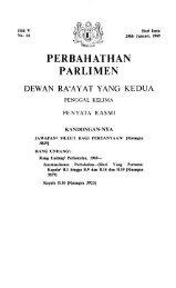 PERBAHATHAN PARLIMEN - Parlimen Malaysia