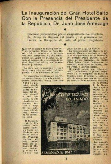1 La Inauguración del Gran Hotel Salto Con la Presencia del ...