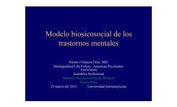 Modelo Biosicosocial de los Trastornos Mentales - NASW-Capitulo ...