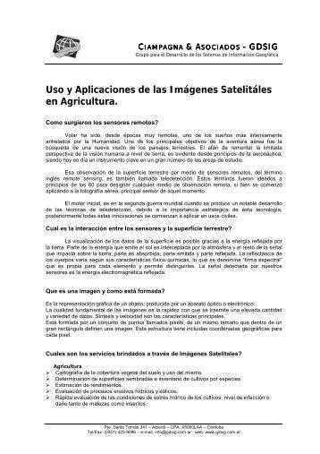 Uso y Aplicaciones de las Imágenes Satelitáles en ... - El Agrimensor
