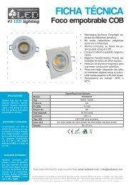 Foco empotrable COB - FOE5EPOT.pdf - Iluminacion de LED