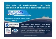 The role of environment on body condition of deep-sea demersal ...