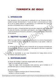 TORMENTA DE IDEAS TORMENTA DE IDEAS - Fundibeq