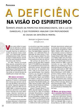 A deficiência mental na visão do Espiritismo - Revista Cristã de ...