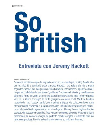 Entrevista con Jeremy Hackett - Spend In