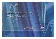 Business Area Seminar Hydro Aluminium Business ... - Hydro.com
