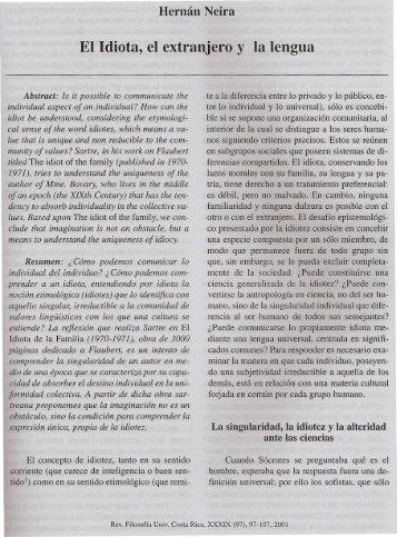 El idiota el extranjero y la lengua.pdf - Instituto de Investigaciones ...