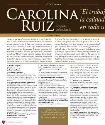 Carolina, pareja de Julien Escudé