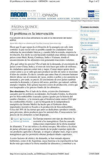La Nacion de Costa Rica - Columbia University