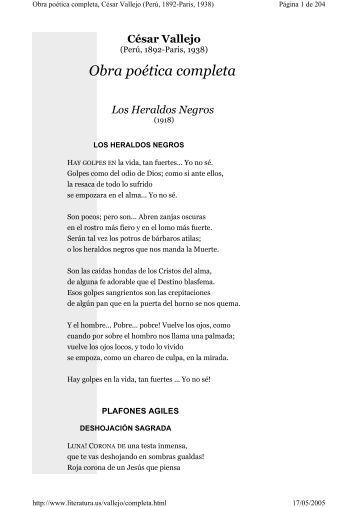 Obra poética de César Vallejo - 19/05 - Portal de Educación del Perú