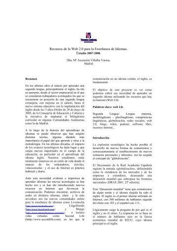 Recursos de la Web 2.0 para la Enseñanza de Idiomas.