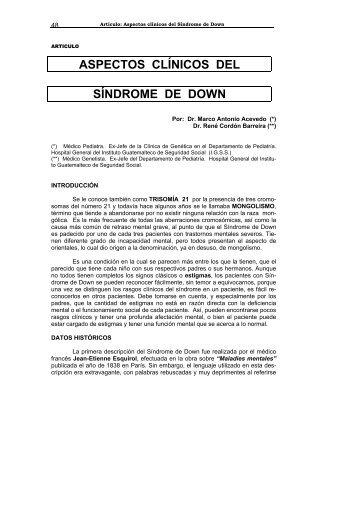 Aspectos clínicos del Síndrome de Down - Biblioteca Virtual en ...