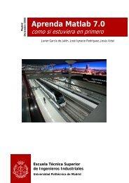 Aprenda Matlab 7.0 - Universidad Politécnica de Madrid