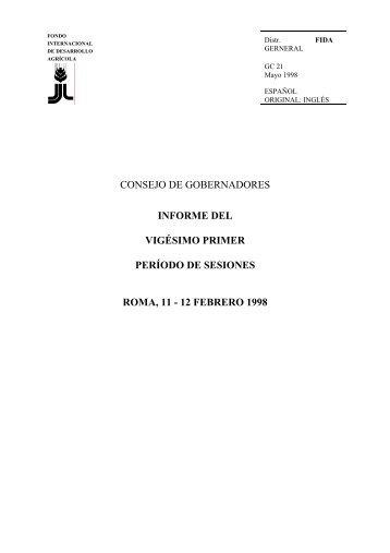 Informe del CG - IFAD