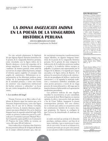 LA DONNA ANGELICATA ANDINA - RUA