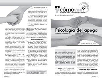 No. 157, p. 22, Psicología del apego - Cómo ves? - UNAM