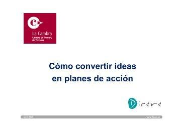 Có ti id Cómo convertir ideas en planes de acción - Dícere