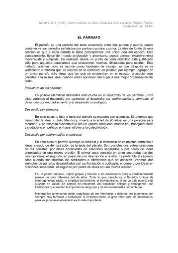 EL PÁRRAFO - Reforma de la Educación Secundaria