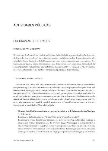 actividades-publicas-2011 - Museo Nacional Centro de Arte Reina ...