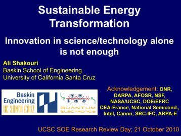 Ali Shakouri - Research Review Day - University of California, Santa ...