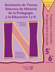 Seminario de Temas Selectos de Historia de la Pedagogía y la ...