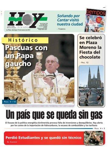Un país que se queda sin gas - Diario Hoy