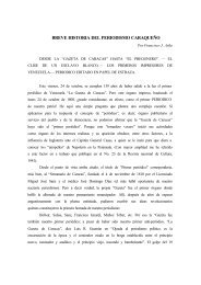 Breve historia del periodismo caraqueño