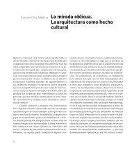 6. La mirada oblicua. La arquitectura como hecho cultural, por ...