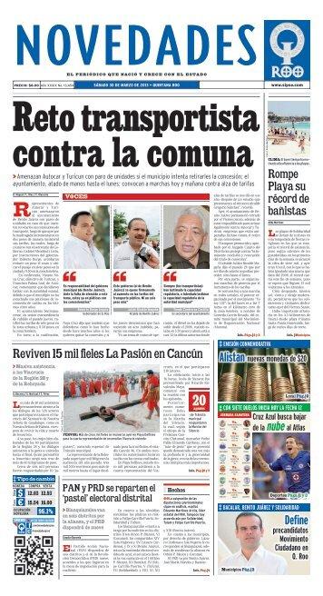Reto transportista contra la comuna - Novedades de Quintana Roo