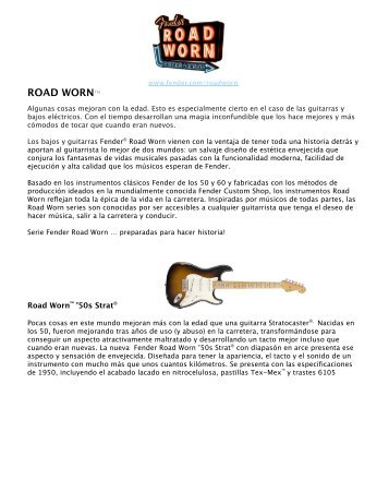 Fender Road Worn. Sabor añejo. - MAT Guitar & Bass