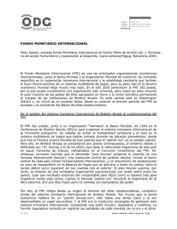 Fondo Monetario Internacional - ODG