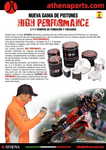 nueva gama de pistones high performance 2 y 4 tiempos ... - Athena